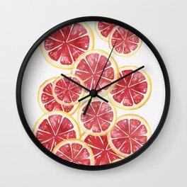 Grapefruits Wall Clock