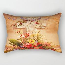 Faith Hope Charity - Christian Cross Rectangular Pillow