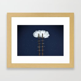 Stairway to the clouds Framed Art Print
