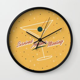 Survived Another Meeting Wall Clock