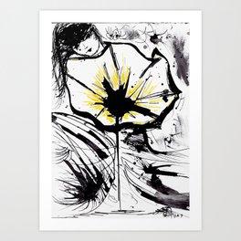 Posca Flower Art Print