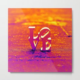 LOVE: SUNSET Metal Print