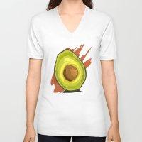 avocado V-neck T-shirts featuring avocado by P.A. Yingling