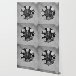 Coffee Circle (Black and White) Wallpaper