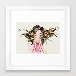 Witchy art challenge day 24 TEA WITCH Framed Art Print