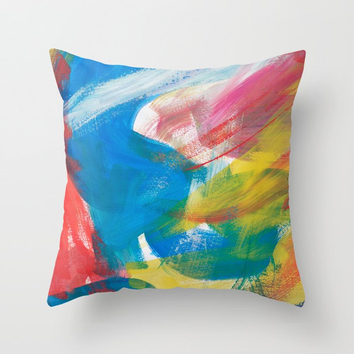 Abstract Artwork Colourful 4 Throw Pillow