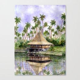 Tropical Cottage Canvas Print