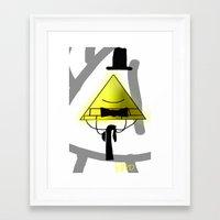 bill cipher Framed Art Prints featuring Bill Cipher by Darkerin Drachen