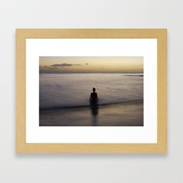 where time becomes Framed Art Print