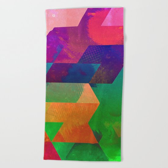 ytwwns tryb Beach Towel