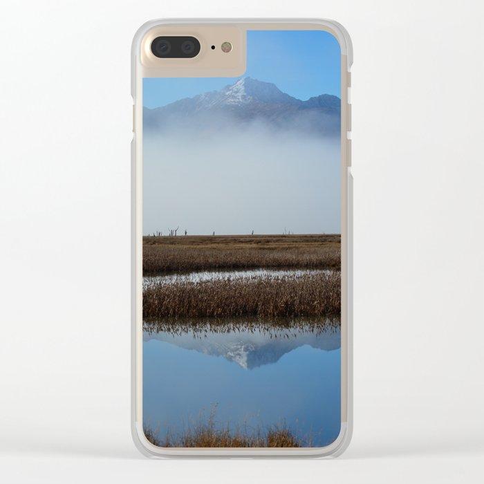 Autumn Mist Reflection Clear iPhone Case