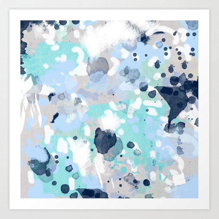Riley   Abstract Gender Neutral Nursery Home Office Dorm Decor Art Abstract  Painting Art Print
