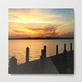 Dockside Dreaming Metal Print