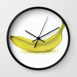 Banana Watercolor Wall Clock