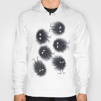 men Hoodies featuring Ink Men by Jennifer Warmuth Art And Design