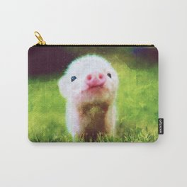 CUTE LITTLE BABY PIG PIGLET Carry-All Pouch