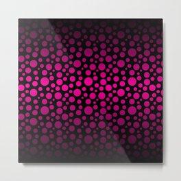 Black to Pink Gradient Colored Circles Metal Print