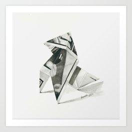 Origami Bird III Art Print