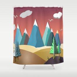 Mountain Landscape 2D Shower Curtain