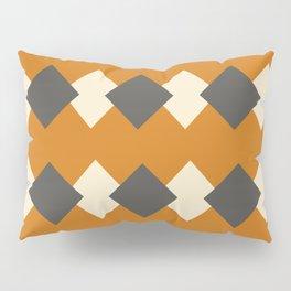 Minimal Abstract Vintage Cream Orange Grey 05 Pillow Sham