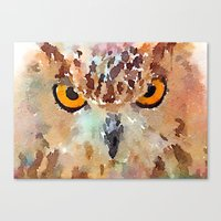 owl Canvas Prints featuring Owl by contemporary