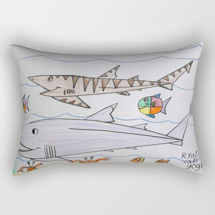 Tropical Reef Life Rectangular Pillow