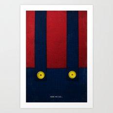 Video Game Poster: Plumber Art Print
