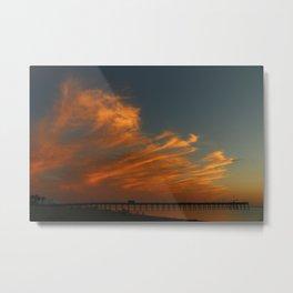 Venice Beach Sunset - Florida Metal Print