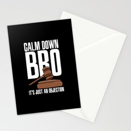 Calm Down Bro It's Just An Objection Stationery Cards