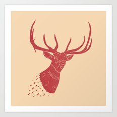 Taxidermied Elk Art Print
