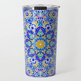 Arabesque kaleidoscopic Mosaic G512 Travel Mug
