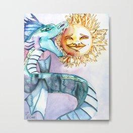 Eclipse Dragon Sun Eater Metal Print