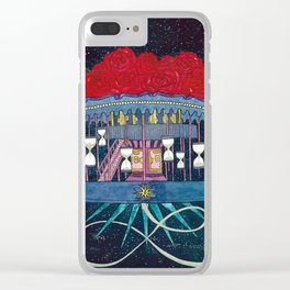 Carousel of Roses Clear iPhone Case
