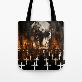 """""""Death Reigns"""" - Skull and Crosses Tote Bag"""