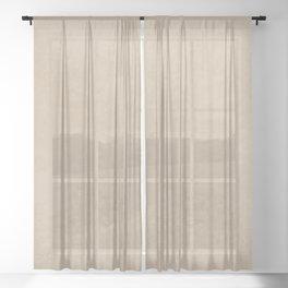 Pantone Hazelnut, Liquid Hues, Abstract Fluid Art Design Sheer Curtain