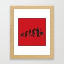 BBQ evolution Framed Art Print