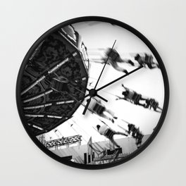 At the Fair: The Swings Wall Clock