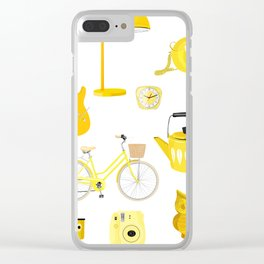 Yellow Collection Clear iPhone Case