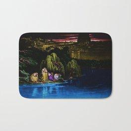 The Waters of Babylon Landscape Painting by Jeanpaul Ferro Bath Mat