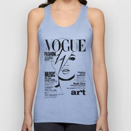 Kate Moss / David Bowie Unisex Tank Top