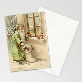 Santa Claus at the Window Stationery Cards