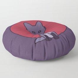 Purple Fox - Kitsune Visits Japan Floor Pillow