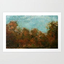 Late Summer Trees Art Print