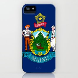 Flag of Maine iPhone Case