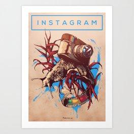 Social Networks / Instagram Art Print
