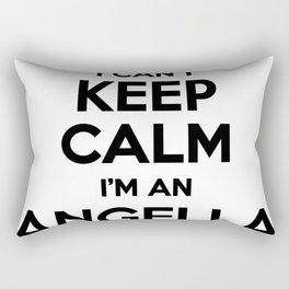 I cant keep calm I am an ANGELLA Rectangular Pillow