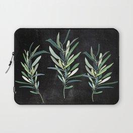 Eucalyptus Branches On Chalkboard Laptop Sleeve