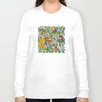 floral pattern Long Sleeve T-shirts featuring Floral pattern by Matt Johnstone