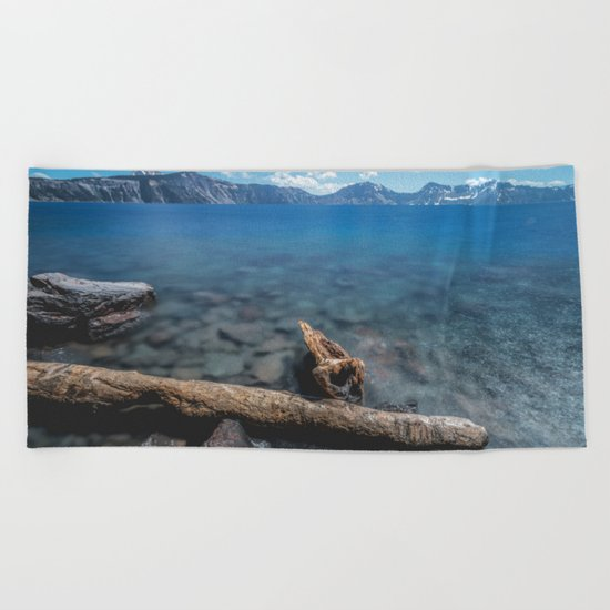 Crater Lake Love Beach Towel