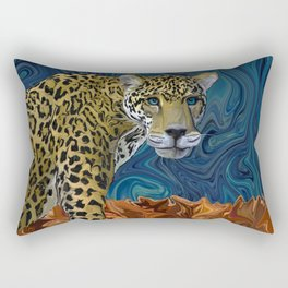Leopard with the Sky in His Eyes Rectangular Pillow